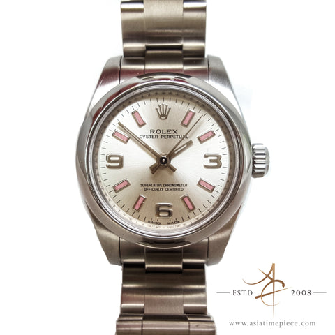 Rolex Pink Oyster Perpetual For Ladies (2007) Ref 176200