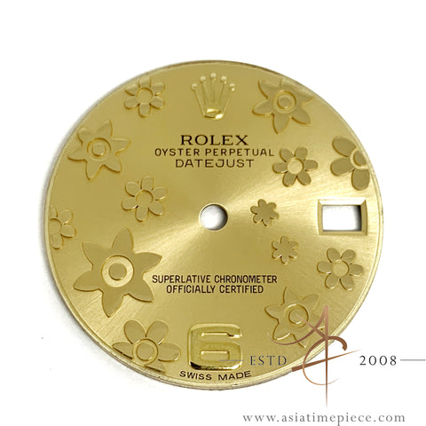 Rolex Champagne Floral Dial For 31mm Midsize Datejust 178273 178278