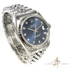 Rolex Midsize Datejust Ref 68274 Sunburst Blue Diamond Dial (Year 1996)