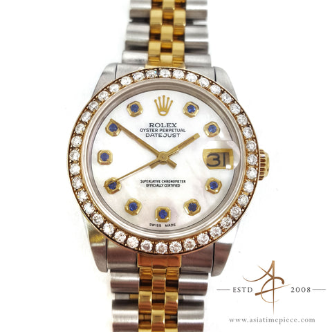 Rolex Datejust Midsize 68273 Diamond Vintage Watch (Year 1984)