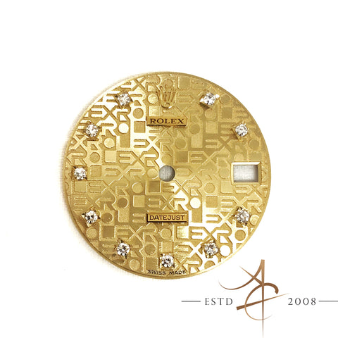 Rolex Datejust Computer Monogram Diamond Dial Part For Ref 68273