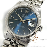 Rolex Datejust 16234 Sunburst Blue Dial (1994)