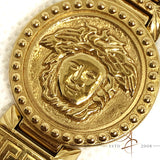 Gianni Versace Signature 01096 Gold Plated Swiss Quartz Watch Bangle