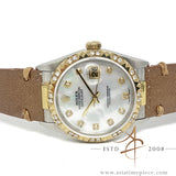 Rolex Datejust 16013 Custom Diamond Mother of Pearl Dial Vintage Watch (Year 1978)