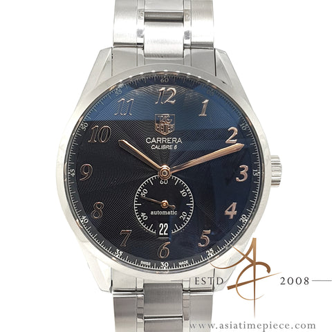 Tag Heuer Carrera Heritage Calibre 6 Ref WAS2114 Small Seconds