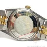 Rolex Oyster Datejust 16013 Champagne Linen Dial Vintage Watch (1987)