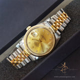 Rolex Diamond Dial Datejust 18k Gold Bezel Ref 16233 (Year 1991)