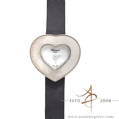 Chopard Heart Ladies 18K White Gold Ref 12/6756 Quartz