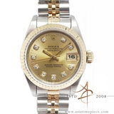 Rolex Datejust Ladies Ref 69173 Champagne Diamond Dial (1995)