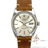 Rolex Datejust 1601 Silver Dial Vintage Watch (1975)