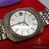 Vintage Omega De Ville Grey Textured Dial Automatic Steel Watch