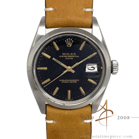 Rolex Date 1500 Black Dial Automatic Vintage Watch (1974)