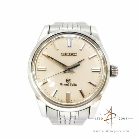 [Full Unpolished Set] Seiko GS Grand Seiko SBGW035 Ivory Dial Watch (2017)
