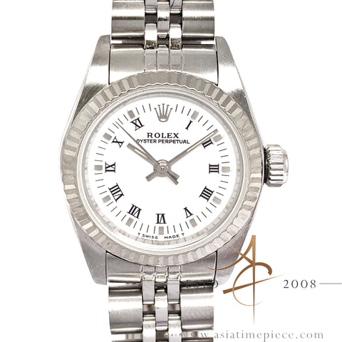 Rolex Datejust Ladies 67194 White Roman Dial (1995)
