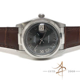 (SOLD) Rolex Oysterdate Precision Ref 6694 Custom Grey Roman Dial Vintage Watch (Year 1975)