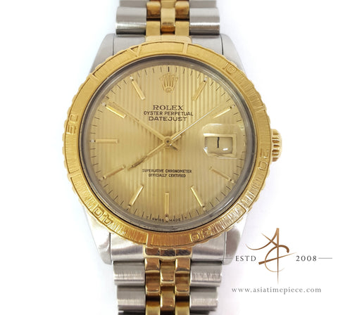 Rolex Thunderbird Turn-O-Graph ref. 16253 Gold Vintage Watch (Year 1985)