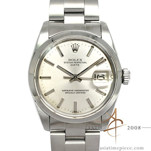 Rolex Date 1500 Silver Dial Automatic Vintage Watch (1979)