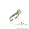 Diamond 1.30 Carat Engagement Proposal Wedding Ring 18k Band Size 6.5