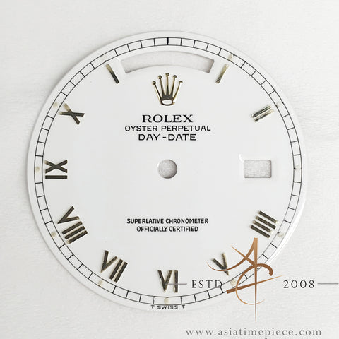 Genuine Rolex White Roman Dial For Day Date President 18038 18238 18078
