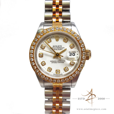 Rolex Datejust Ladies 69173 Diamond Watch (1997)