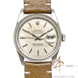 Rolex Datejust 16234 Linen Dial Vintage Watch (1988)