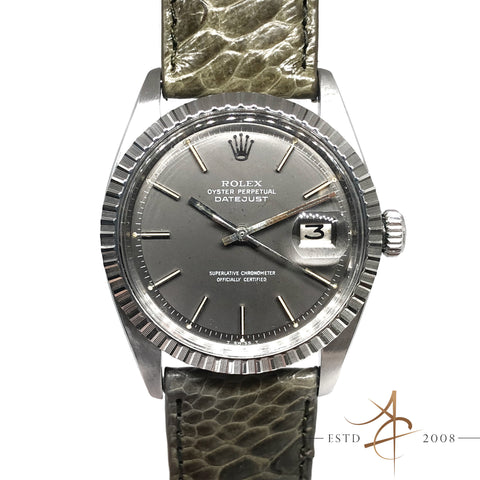 [Rare] Rolex Oyster Perpetual Datejust Ref 1603 Grey Dial Vintage Watch (Year 1972)