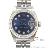 Rolex Datejust Sunburst Blue Diamond 79174 For Ladies (Year 2000)
