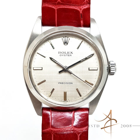 Rolex Vintage Oyster Precision Linen Dial Ref 6426 Watch