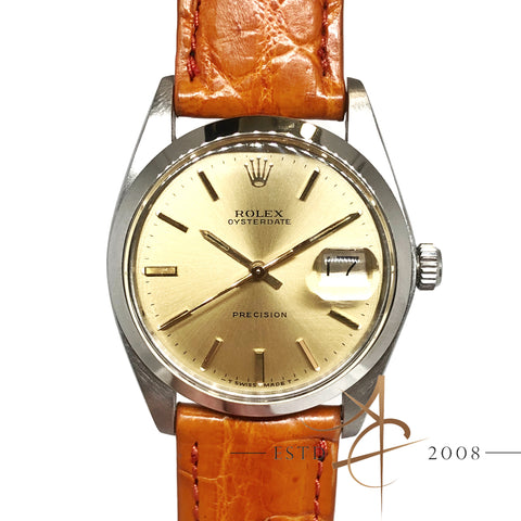Rolex Oysterdate Precision Ref 6694 Champagne Dial Vintage Watch (Year 1975)