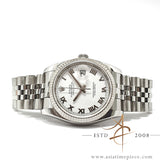 [Full Set] Rolex Datejust 116234 White Roman Dial (2010)