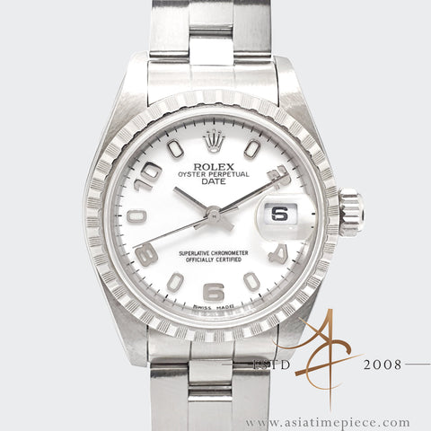 Rolex Oyster Perpetual Date Ladies 79240 White Arabic Dial (2004)