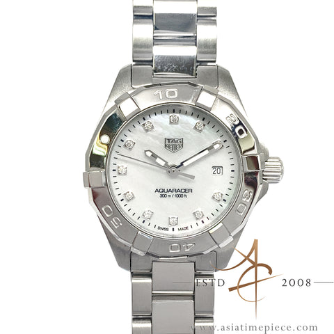 Tag Heuer Aquaracer WBD1414 Diamond Mother of Pearl Quartz Lady (2018)