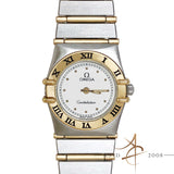 Omega Constellation 18K Gold Steel Quartz Ladies Watch