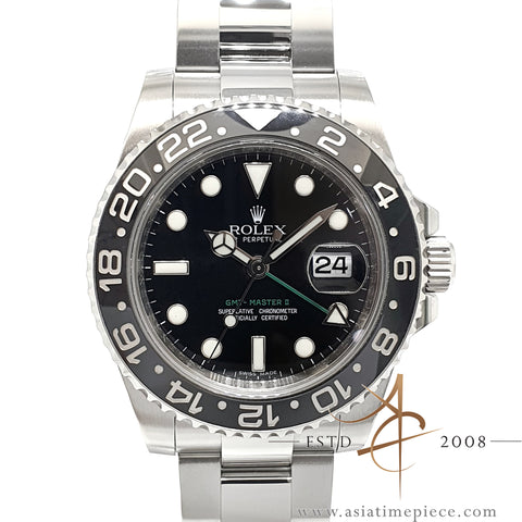 Rolex GMT Master II Ref 116710LN Ceramic Full Set