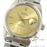Rolex Precision 6694 Champagne Dial Vintage Watch (Year 1978)