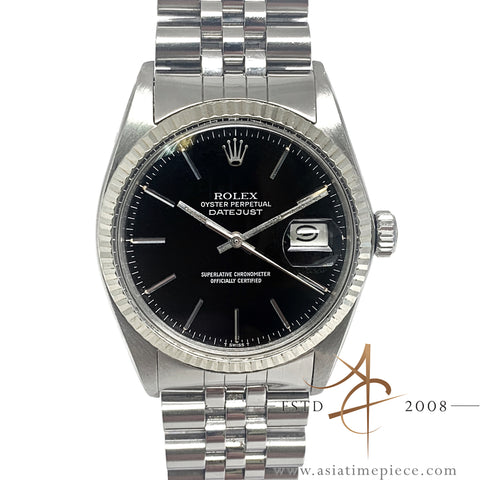 [Cert] Rolex Datejust 16014 Black Dial Vintage Watch (Year 1979)