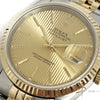 (Sold) Rolex Oyster Perpetual Datejust Tapestry Dial 18K Gold Steel (Year 1990)