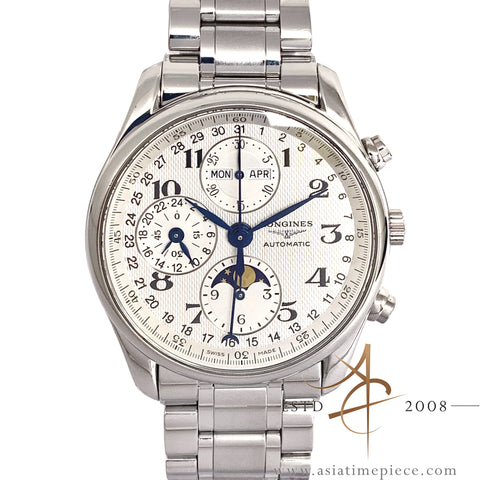 Longines Master Moonphase L2.673.4 Triple Date Chronograph