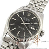 [Cert & Box] Rolex Datejust Ref 1601 Grey Black Dial Vintage Watch (1973)
