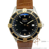 Breitling J Class D10067 Automatic Black  18K Gold Steel Watch