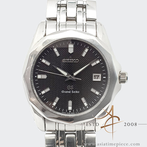 Grand Seiko SBGF001 Black Dial 8J56-800 Steel 38mm Quartz