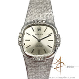 Rolex Orchid Ref 3358 Ladies 18k White Gold Diamond Sigma Dial Watch