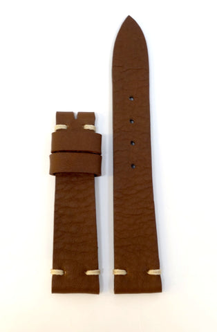Vintage Brown Leather Watch Strap (19, 20, 22mm)