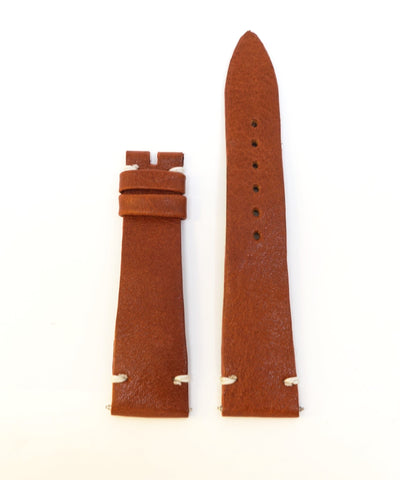 Vintage Tan Brown Leather Watch Strap (20mm)