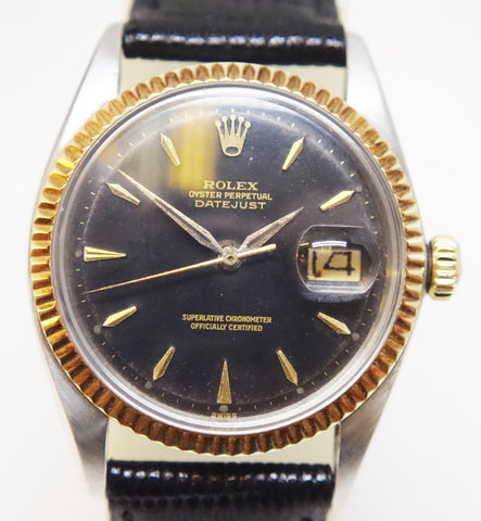 Rolex Vintage Oyster Perpetual Black Dial Datejust 1601