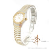 Ebel Classic Ladies Diamond Wave Watch 18k Yellow Gold and Stainless Steel Silver Dial 1003F1S