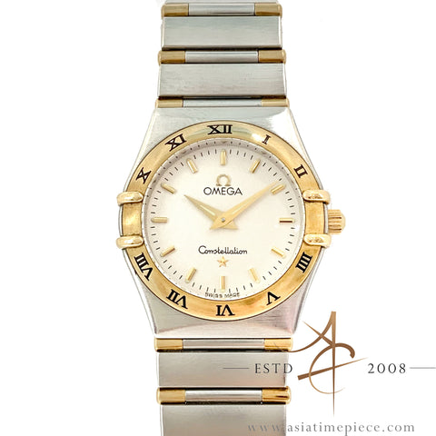 Omega Constellation 18K Gold Stainless Steel Ladies Watch