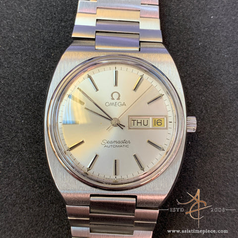 Omega Seamaster Day-Date Silver Dial Vintage Watch