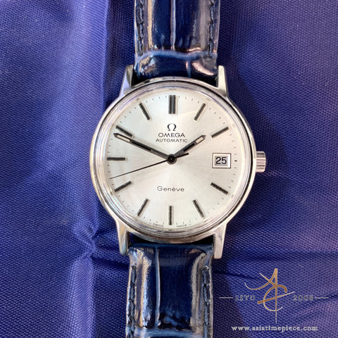 Omega Geneve White Swiss Vintage Watch Automatic
