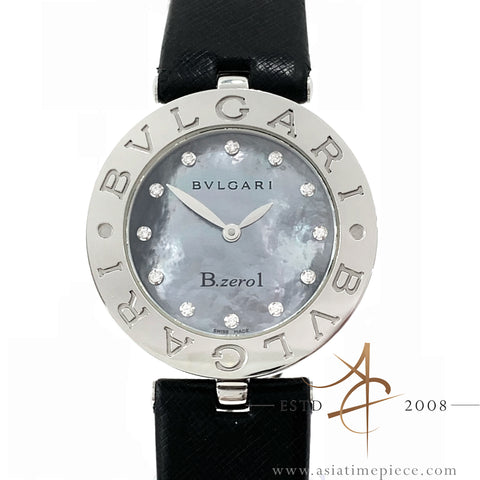Bvlgari Ladies' B-Zero1 MOP Diamond Dial Stainless Steel BZ30S